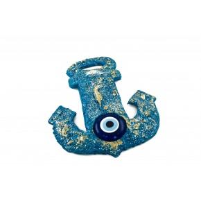 Nazar Boncuğu Kapı ve Duvar Süsü Mavi Çapa