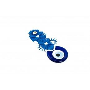 Nazar Boncuğu Kapı ve Duvar Süsü Mavi Sarkaç Örgü